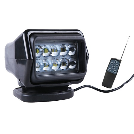Preview 50watts 7inch 360degree led remote control searching fishing lamp marine spot work light boat spotlights with